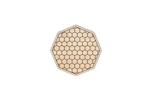 wooden engraved honeycomb coaster