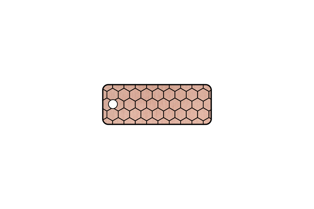 Rose Gold Honeycomb Keychain