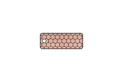 Rose Gold Honeycomb Keychain by Superior Stamp and Sign.