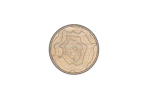 Mount Hood Topography Coasters (4 Set) by Superior Stamp and Sign.
