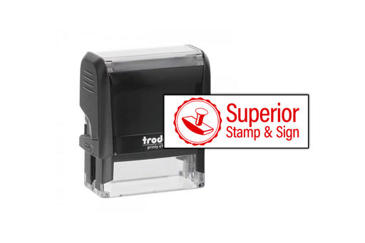 Medium Rectangle Logo Stamp by Superior Stamp and Sign.