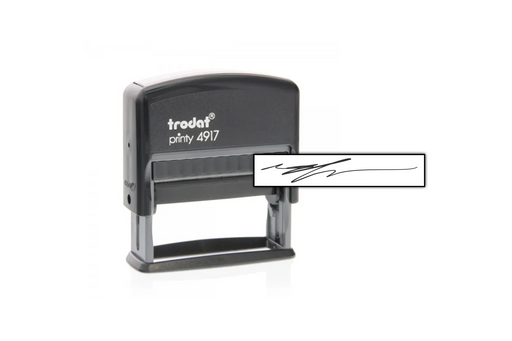Check Signature Stamp (short) by Superior Stamp and Sign.