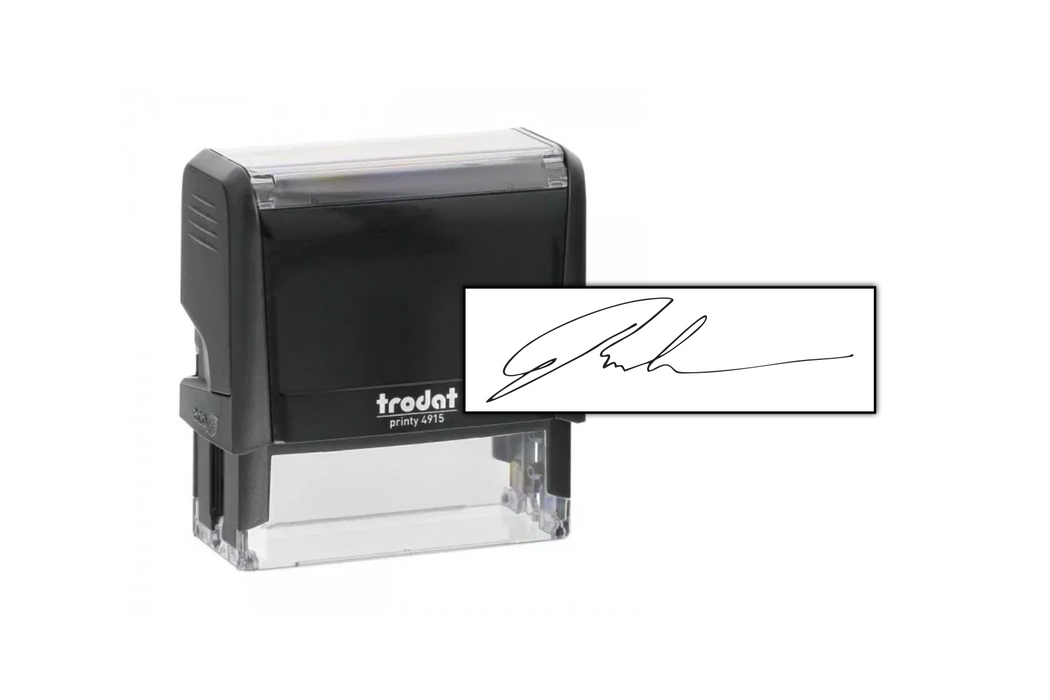 Signature Stamp With Size Example