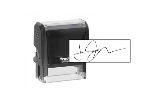 Check Signature Stamp (small) by Superior Stamp and Sign.