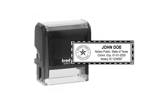 Texas Notary Stamp by Superior Stamp and Sign.