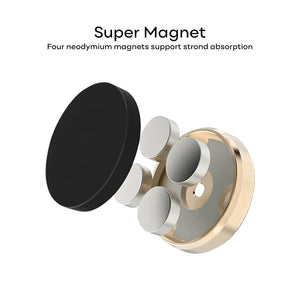 Magnetic Car Phone Holder with Aluminium Alloy Metal Body and Strong Magnets