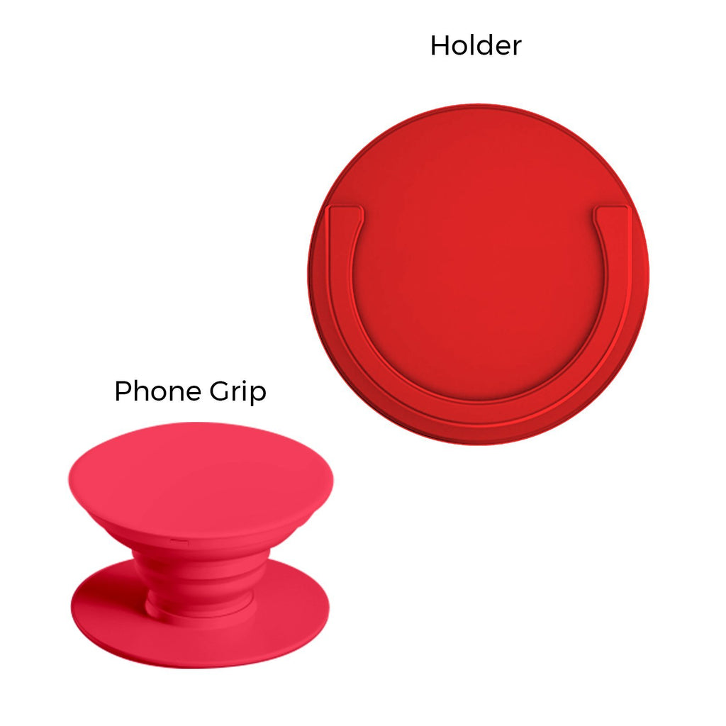 Round Silicon Car Mount for Phone Grips (Free Matching Phone Grip)