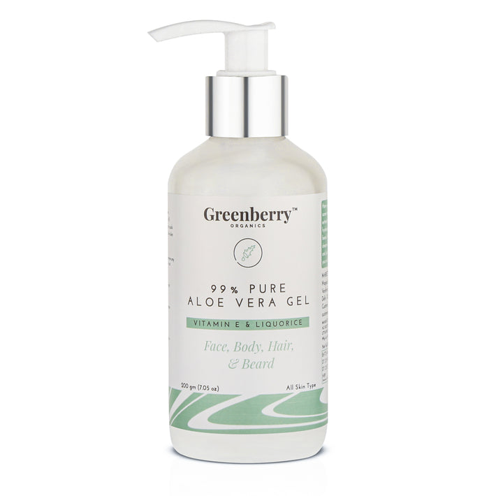 Greenberry Organics 99% Pure Aloe Vera Gel 200ML
