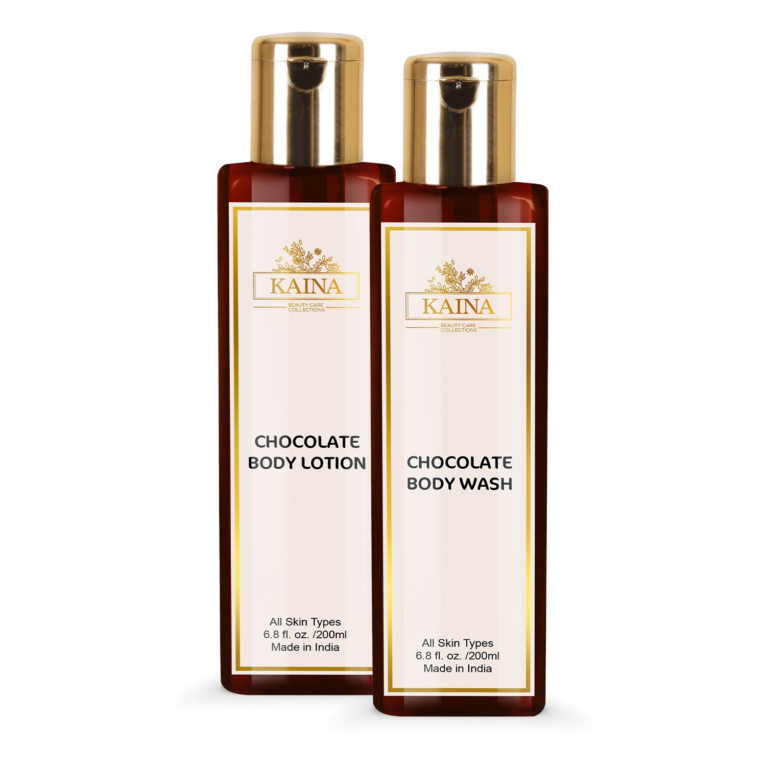 Kaina Skincare Coffee Combo Set of 2 | Body Lotion 200 ml & Body Wash 200 ml | Fights Free radicles and Removes Excess Oil