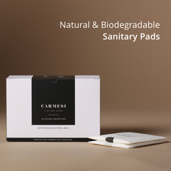 Carmesi Natural & Biodegradable Sanitary Pads 30 Pieces (All XL)