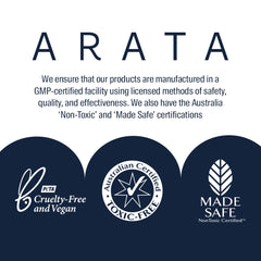 Arata Travel Kit With Hydrating Shampoo, Body Wash, Toothpaste & Face Wash | All Natural, Vegan & Cruelty-Free | On-The-Go Personal Care For Travel 250ml