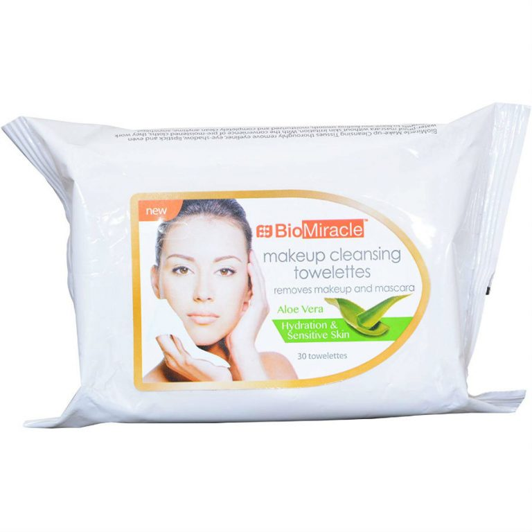 BioMiracle Makeup Cleansing Towelettes -Aloe Vera (30 Sheet Masks)