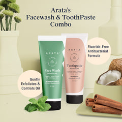 Arata Natural Face Wash and Toothpaste | All-Natural, Vegan & Cruelty-Free 100ml