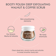 Dot & Key Booty Polish Deep Exfoliating Walnut & Coffee Scrub 60ml