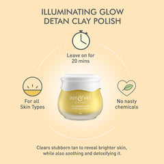 Dot & Key Illuminating Glow Detan Clay Polish 85g