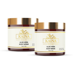 Kaina Skincare Aloe-Vera Combo Set of 2 | Body Gel 100 g & Body Wash 200 ml | Hydration and Gentle Cleansing 400g