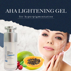 FCL Aha Lightening Gel for Hyperpigmentation and Healthy Cell Renewal, While Exfoliating Away Dry and Dead, Complexion-Dulling Cells 30ml