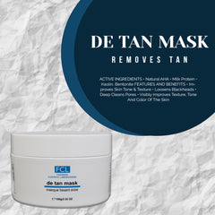 FCL De Tan Mask Tan Remover and Improves Skin Tone & Texture 100g