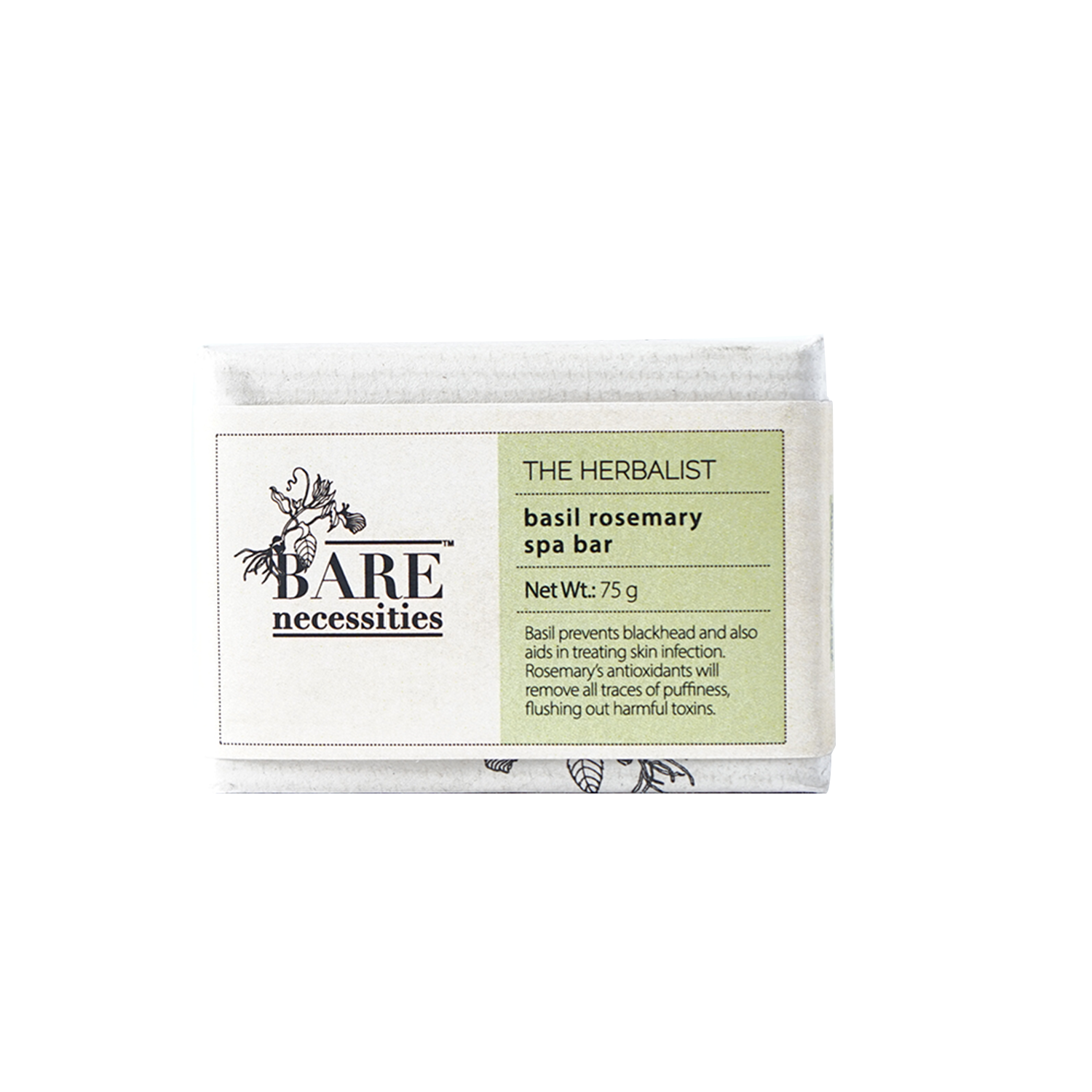 Bare Necessities Basil Rosemary Spa Bar : The Herbalist 75g