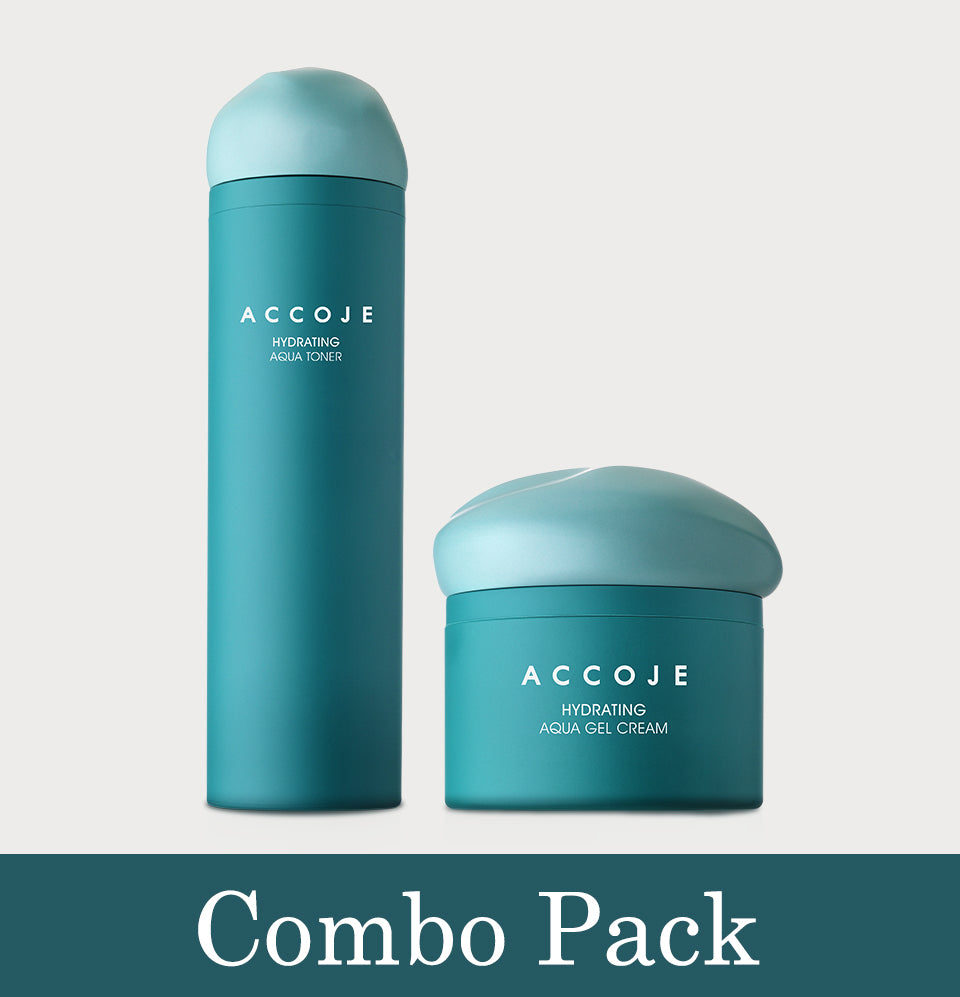 Accoje Hydrating Aqua Gel Cream + Hydrating Aqua Toner, 180ml