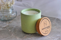 Joyous Beam Candles Fresh Lemon and Eucalyptus - Double Wick Concrete Tumbler Candle 700 g
