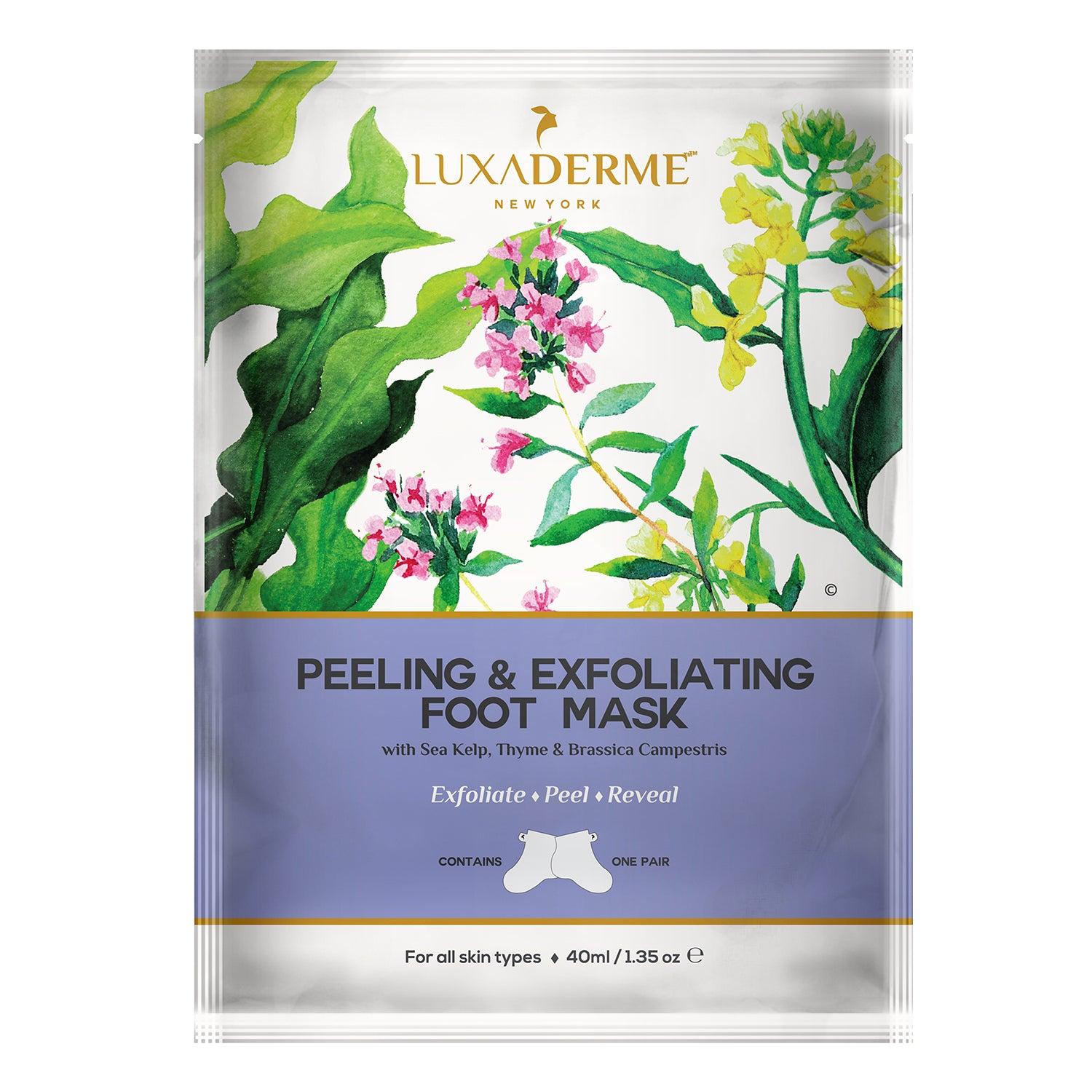 LuxaDerme Peeling & Exfoliating Foot Mask