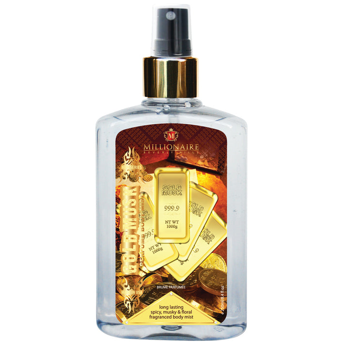 Millionaire Men Series Gold Musk Perfumed Body Mist 250 ml