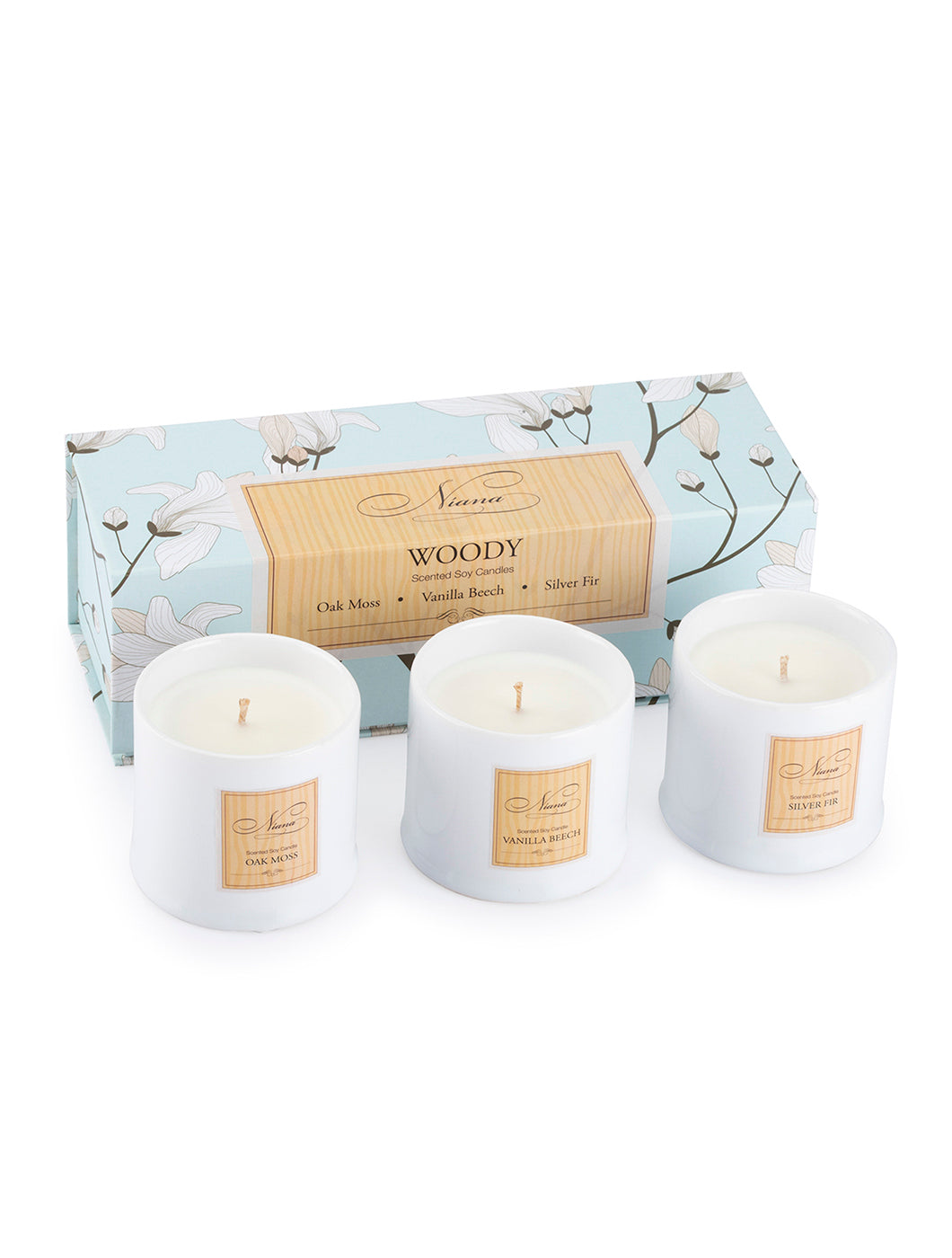 Niana Woody Collection - Set of 3 Candles 120g Each