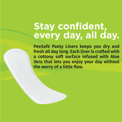 Pee Safe Aloe Vera Panty Liners Pack of 25