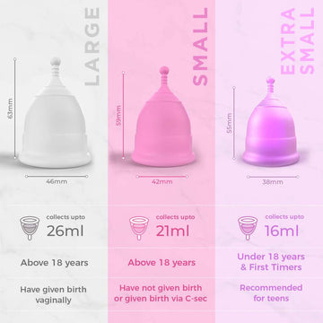 Pee Safe Menstrual Cup with Medical Grade Silicone - Small Pack of 1