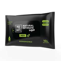 Pee Safe Natural Intimate Wipes for Men Pack of 10