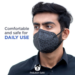 Pollution Safe Anti Dust 5 Ply Mask Pack of 1