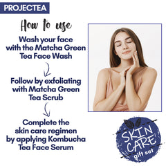 PROJECTEA Skin Care Kit (Pack of 3) | Face Wash, Face Scrub, Face Serum