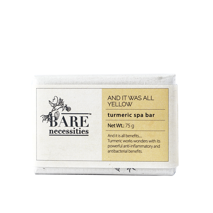 Bare Necessities Turmeric Spa Bar : And It was All Yellow 75g