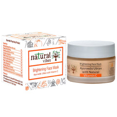 Natural Vibes Ayurvedic Vitamin C Brightening Face Mask/Pack 50g