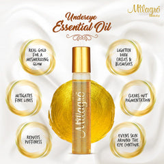 Milagro Beauty Undereye Essentail Oil infused with 24k Gold 10ml