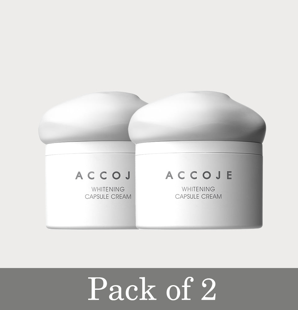 Accoje Whitening Capsule Cream Pack of 2, 100ml