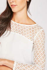 CROCHET PANEL BLOUSE