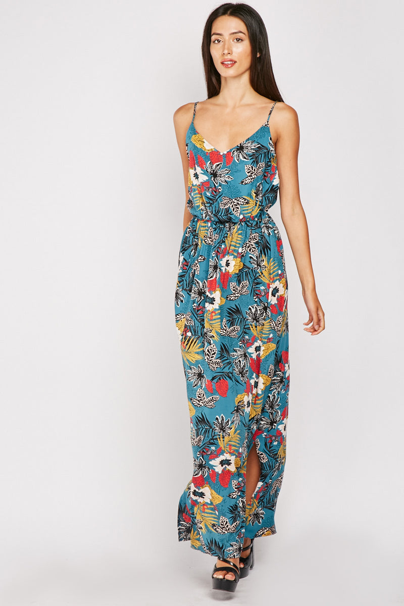 FLORAL MAXI STRAPPY DRESS