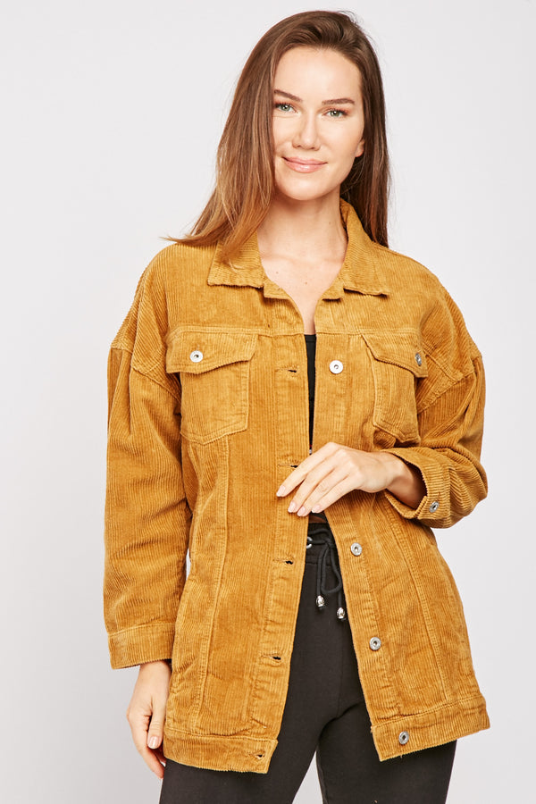 CHUNKY CORDUROY COTTON SHACKET