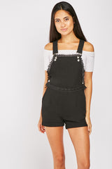 CROCHET TRIM PLAYSUIT