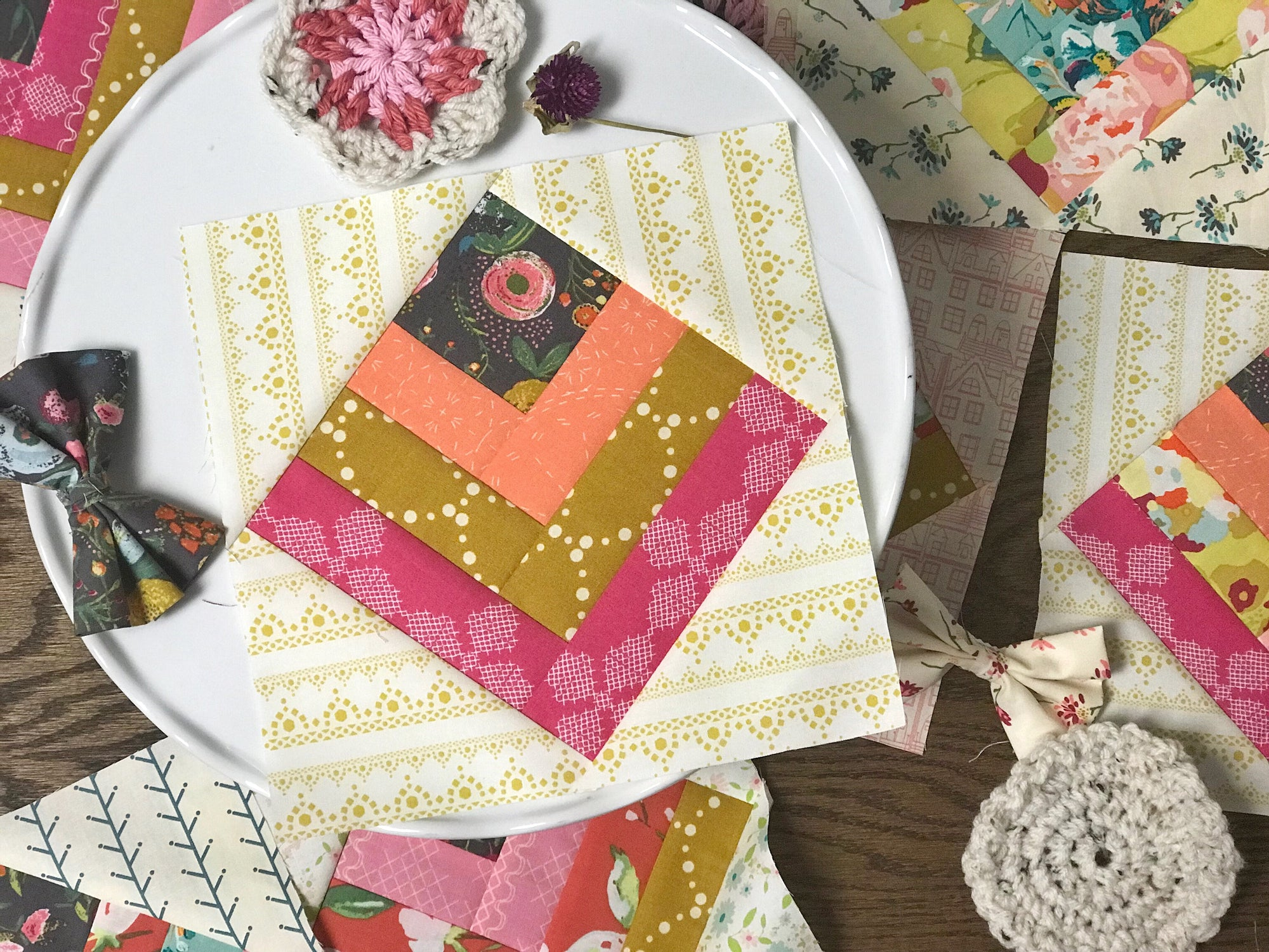 Anthologie - a boho patchwork quilt - Pattern 5: Mod Tulips