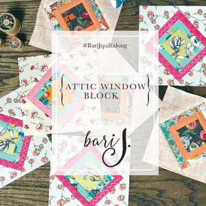 Anthologie - a boho patchwork quilt - Pattern 11:  Attic Window