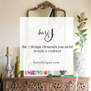 The Seven Elements You Need to Style a Credenza