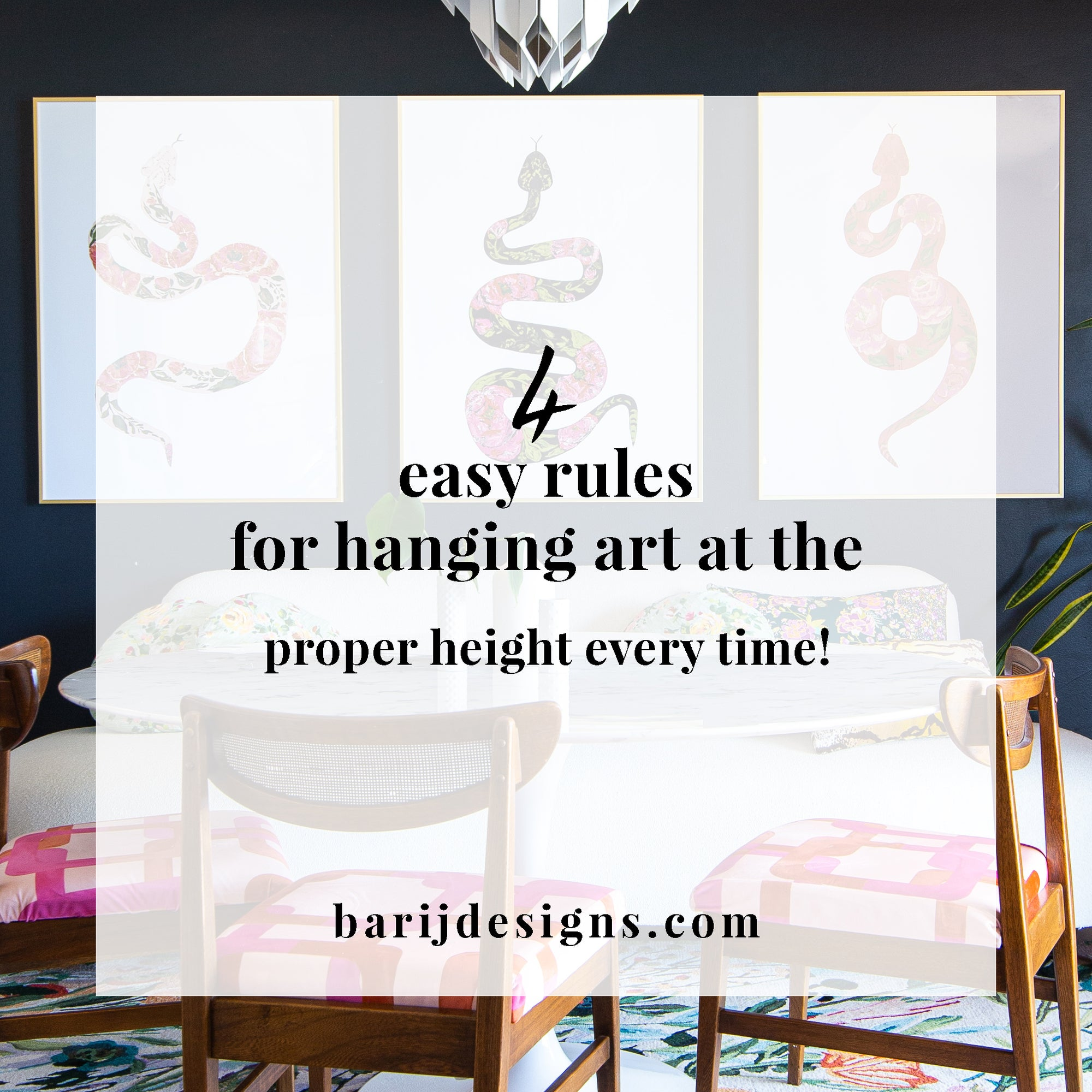 Four Rules for Hanging Art at the Proper Height Every Time!