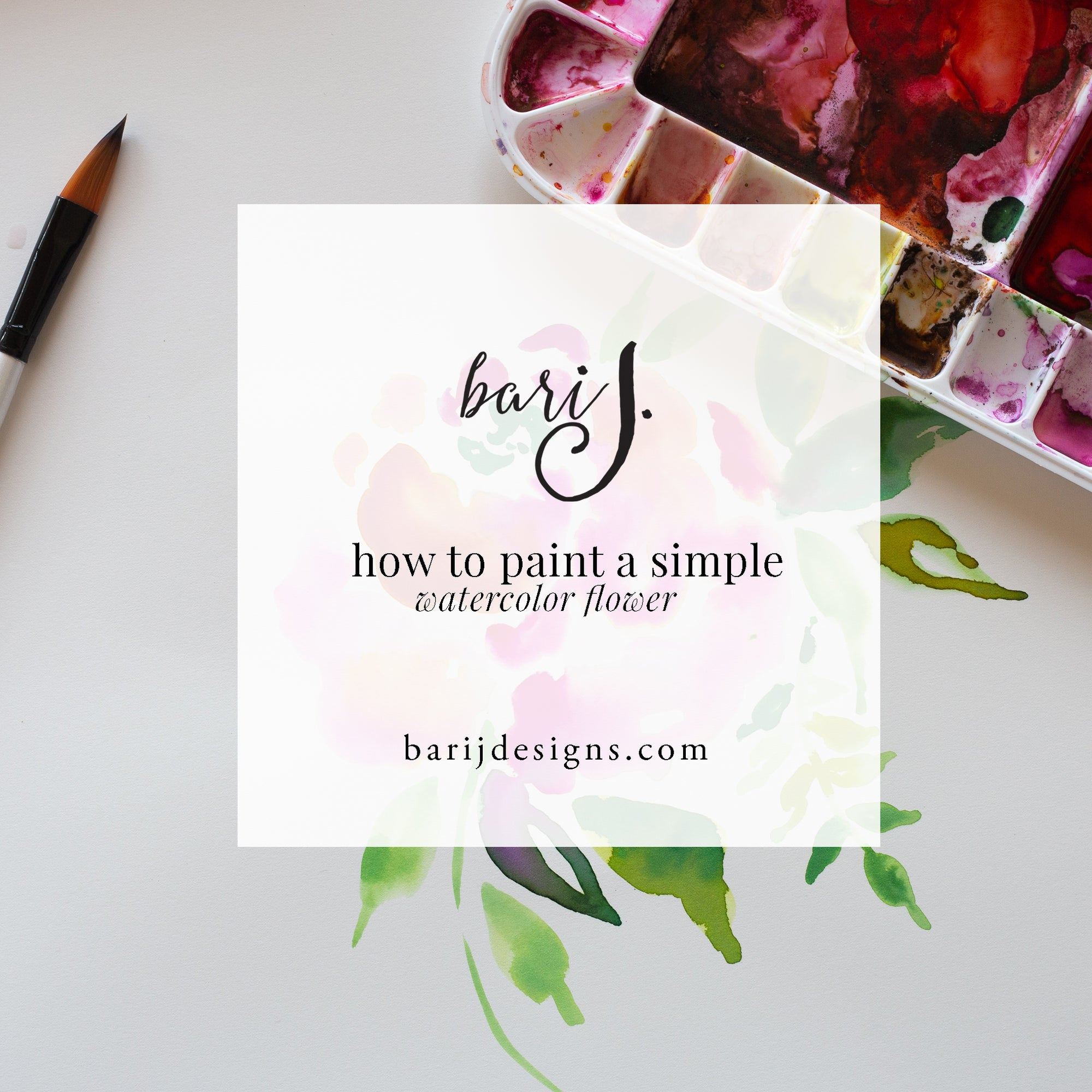 How to paint a simple watercolor flower