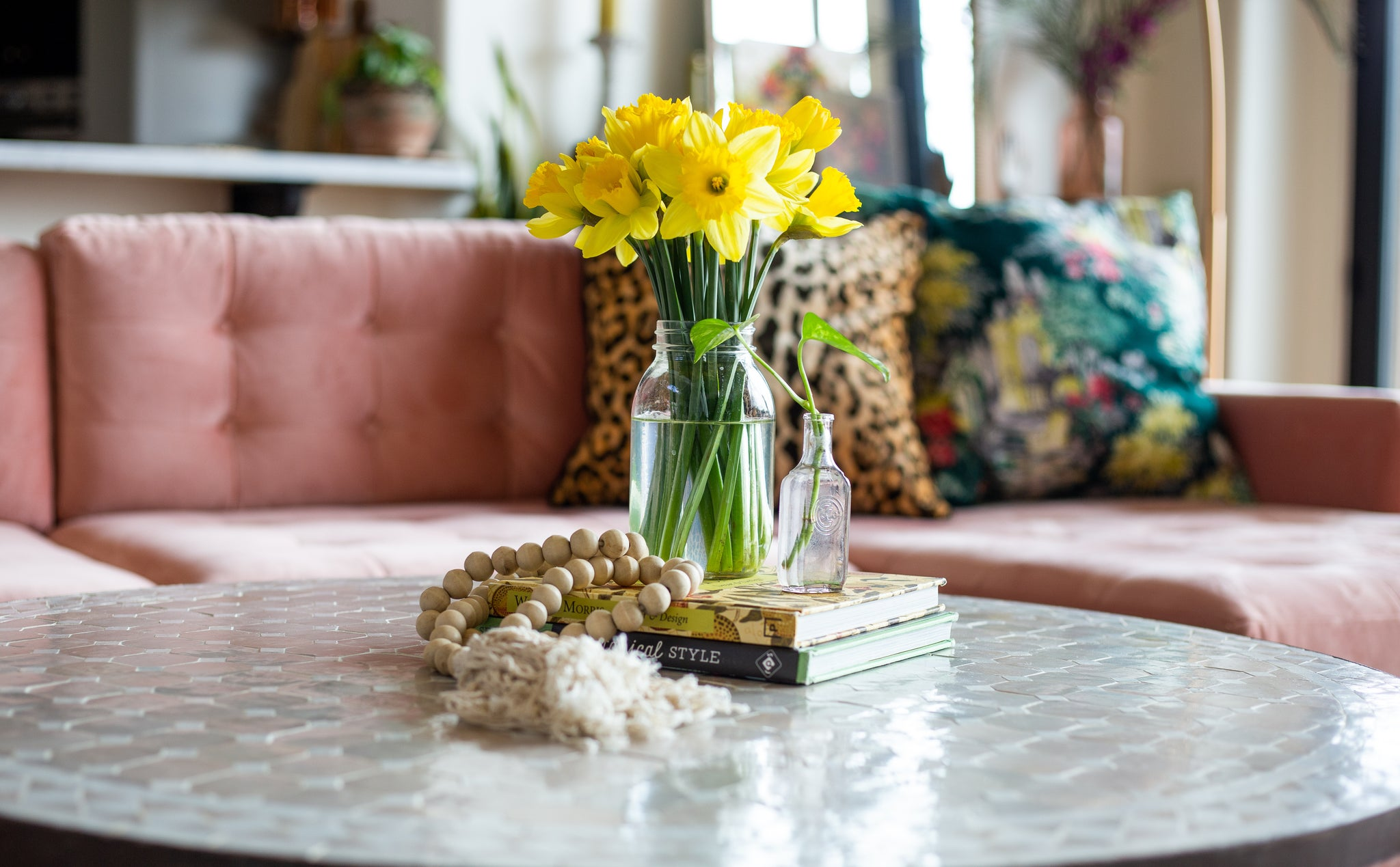 coffee table styling - how to style a coffee table DIY