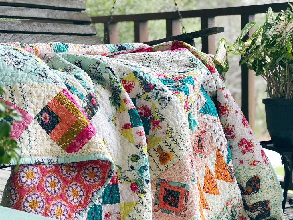 Anthologie a boho patchwork quilt pattern 13 adding boho remember to machine quilt first if you are machine quilting and then add your hand touches ccuart Image collections