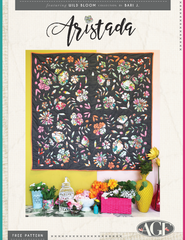 Aristada Quilt by Art Gallery Fabrics featuring Wild Bloom by Bari J.