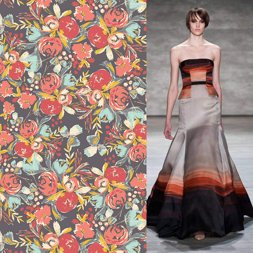 Bari J. Wild Bloom Fabric and BIBHU MOHAPATRA